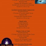 Cupa Cabana's October Specialty Coffee Menu