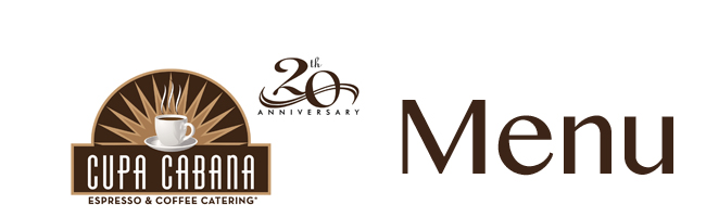 Cupa Cabana Espresso 20th Anniversary Logo