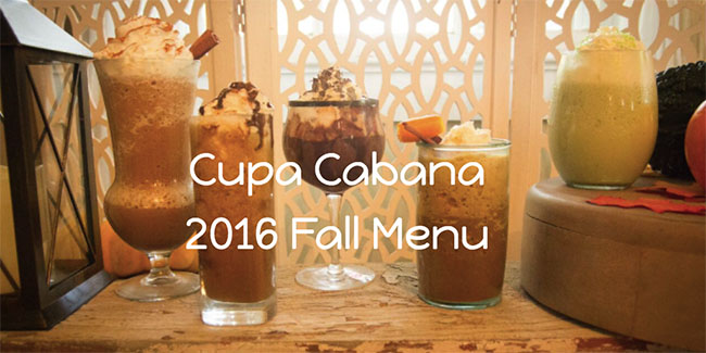 Cupa Cabana 2016 Fall Menu